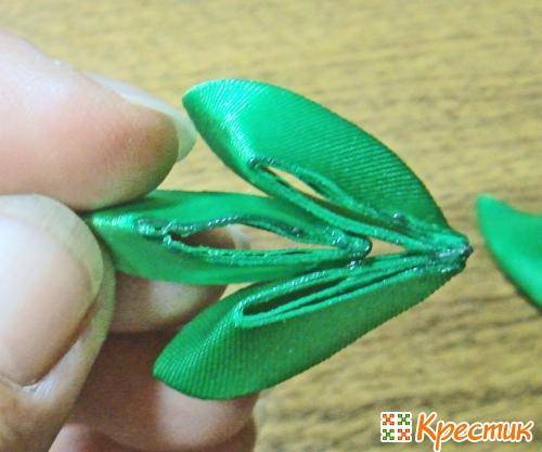 Все виды лепестков канзаши пошаговое фото 5
