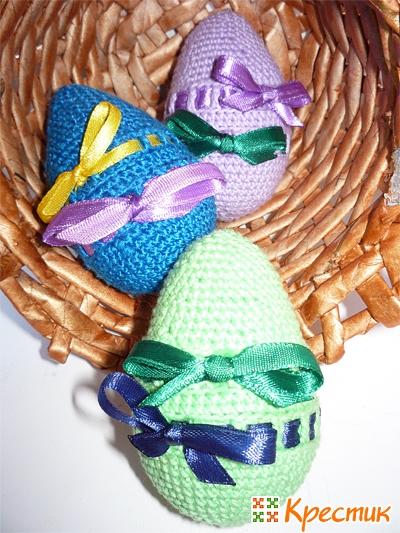 Пасхальное яйцо своими руками амигуруми