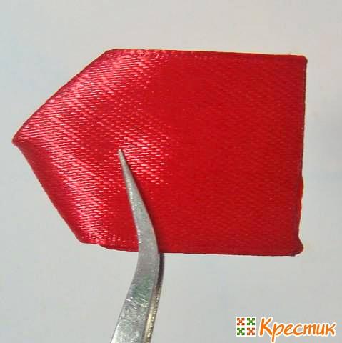 Как делать лепестки канзаши