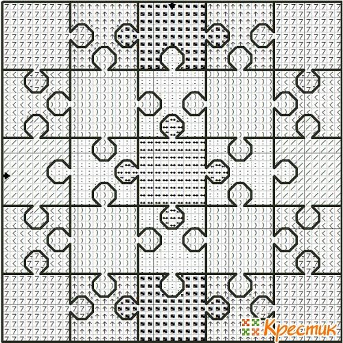 Пендибуль схема вышивки