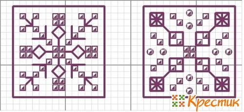 кривульки схемы вышивки крестиком