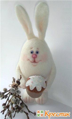 Пасхальный кролик валяние