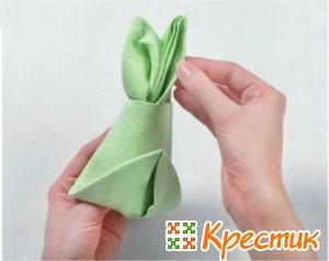 Салфетка пасхальный кролик 9