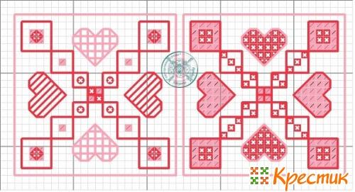 схема вышивки для кривульки сосулька