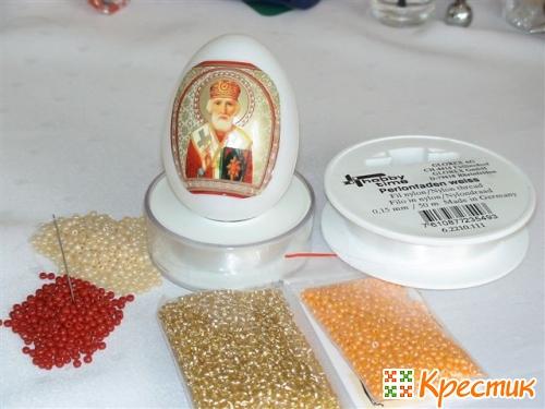 материалы для оплетения яйца бисером
