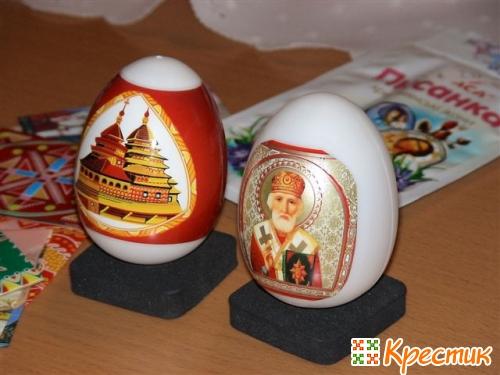 МК пасхальные яйца из бисера
