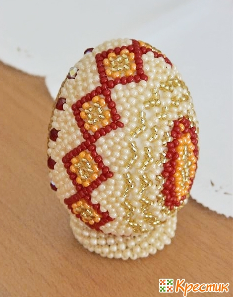 пасхальные яйца из бисера фото