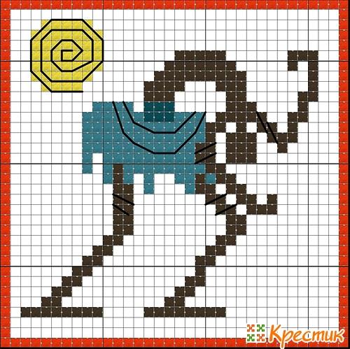 Кубик кривулька схема вышивки 4