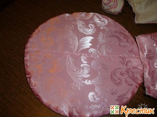 Декоративная подушка роза своими руками