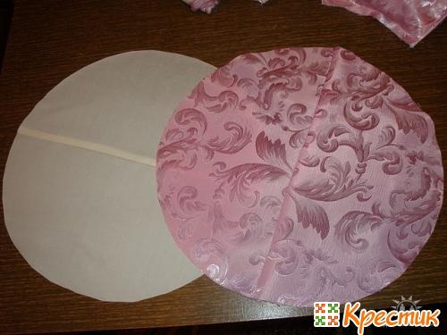 Как пошить подушку розу