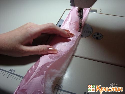Как сделать подушку розу