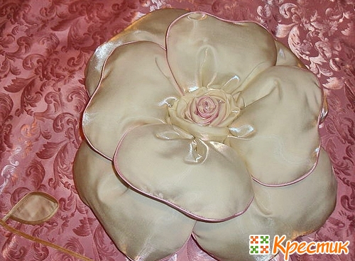 Мастер класс подушка роза