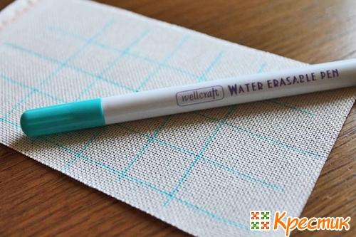 Разметка равномерки маркером