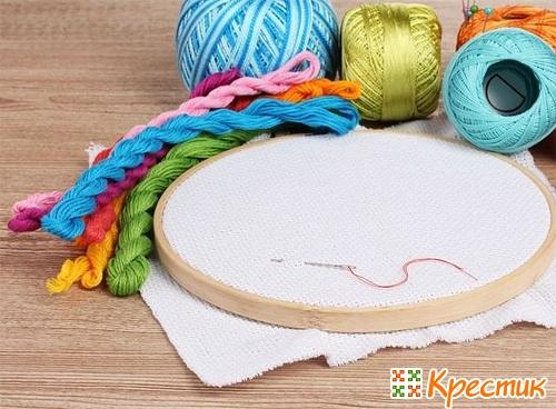 Материалы и приспособления для вышивки