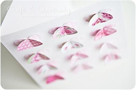 Двухслойные сердечки из бумаги