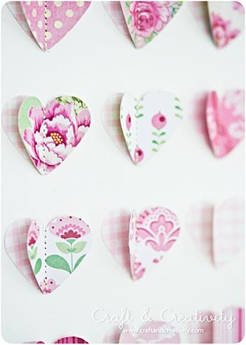 Как пришить сердечки к открытке
