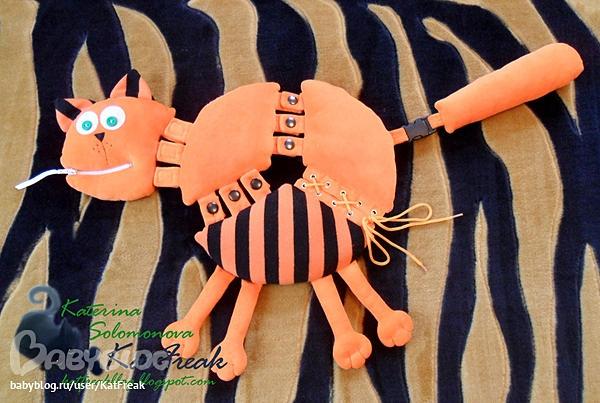 Развивающая игрушка своими руками Кот
