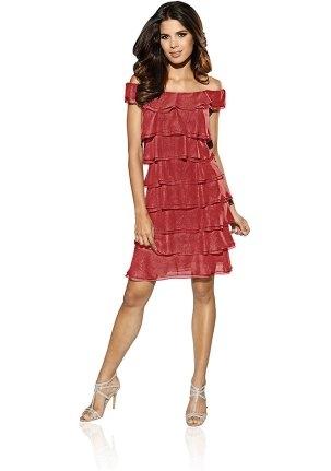 Коралловое платье на 14 февраля