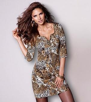 Платье с лепардовым принтом