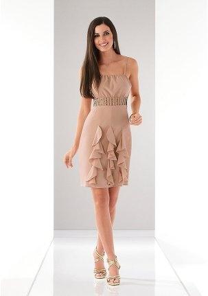 Светлое коктейльное платье на 14 февраля