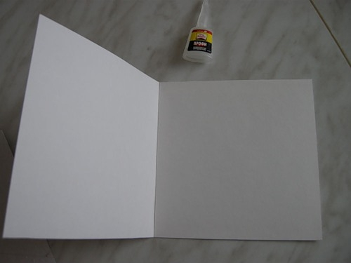 Заготовка для открытки из 2 листов