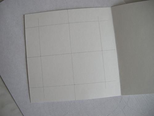 Заготовка для открытки с окошком
