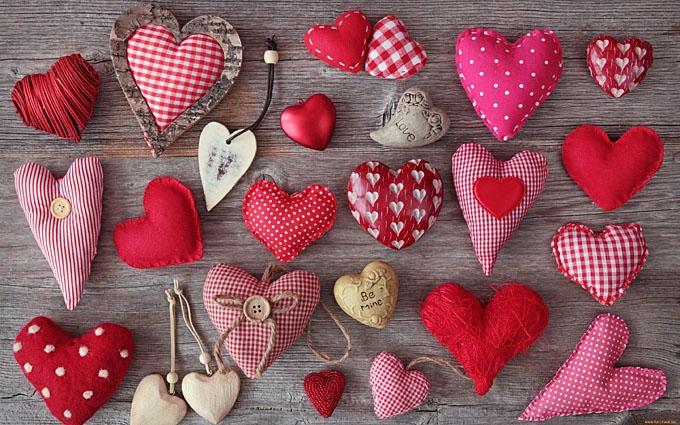 Сердечки из ткани своими руками