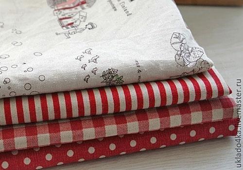 Ткань для пошива сердечек