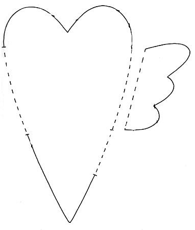 Выкройка сердце-тильда