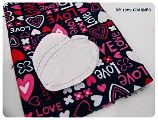 Выкройка сердечка из бумаги