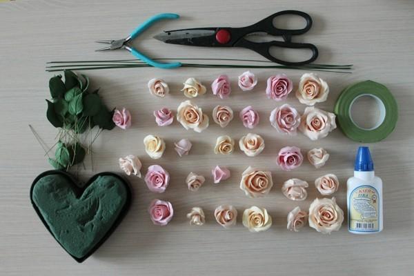 Материалы для сборки цветков роз