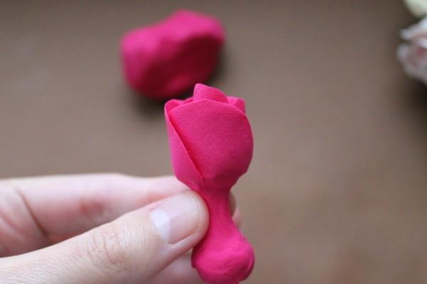 Ножка розы из полимерной глины