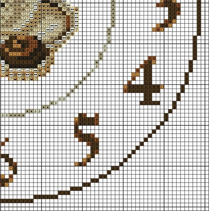 Часы схема вышивки крестом 4
