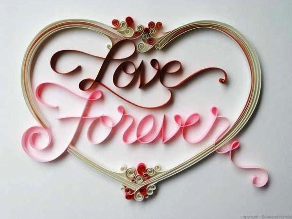 Валентинка love forever