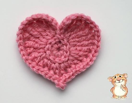Вязаное крючком сердечко