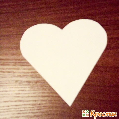 Шаблон сердечка из бумаги