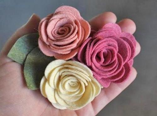 Цветы из полушерстяного фетра