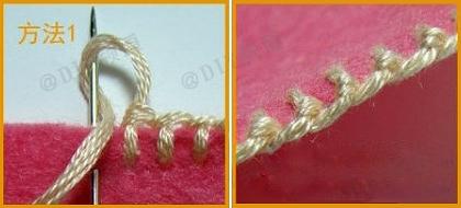 Как вышивать петельным швом