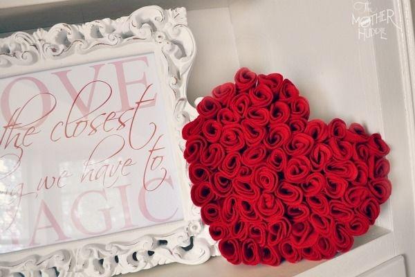 Розы из фетра своими руками фото