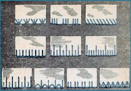 Виды петельных швов