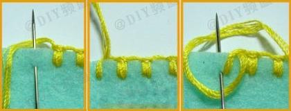 Вышивка петельным швом
