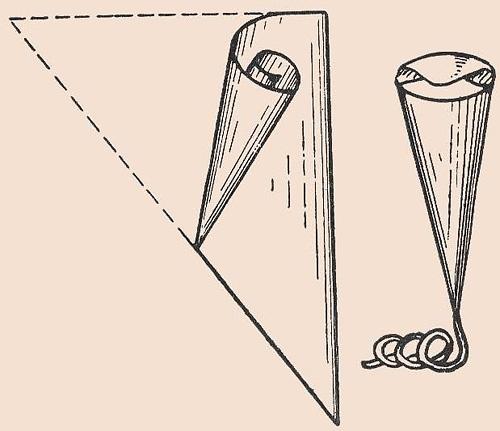 Корнетики из пергамента для глазури