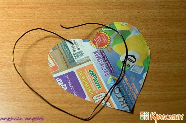 Каркас для плетения из газетных трубочек