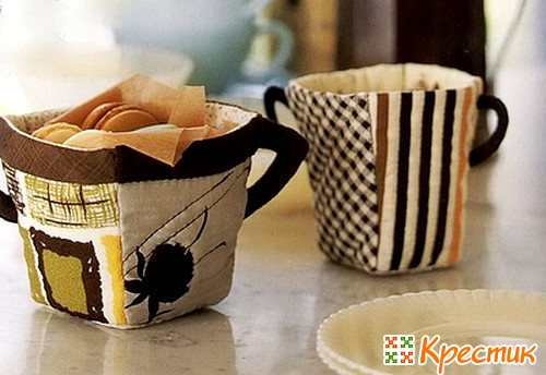 Текстильная чашечка