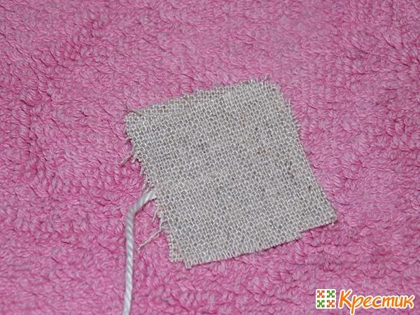 Ярлычок для саше из ткани