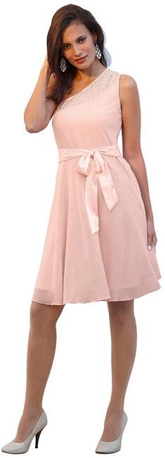 Платье c бретелью на одно плечо