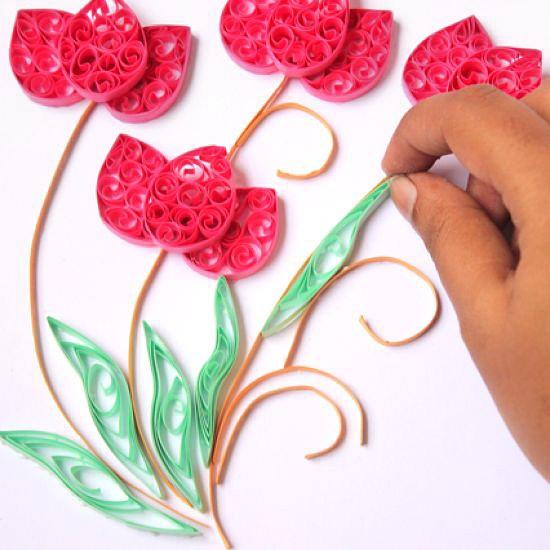 Цветы из бумаги готовы