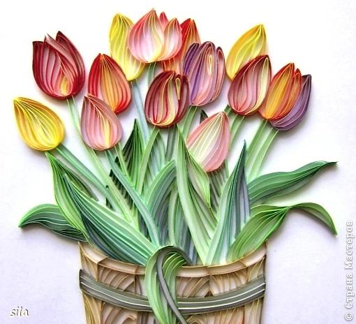 Как делается тюльпан из бумаги