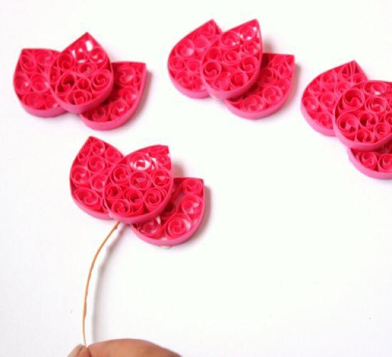 Как сложить тюльпан из бумаги