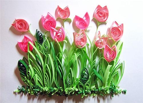 Тюльпаны Квиллинг